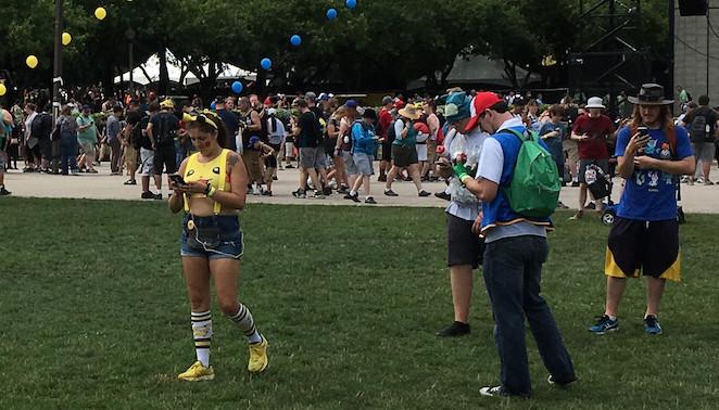 Making a Pikachu sighting at Grant Park. | John O'Neill/Sun-Times