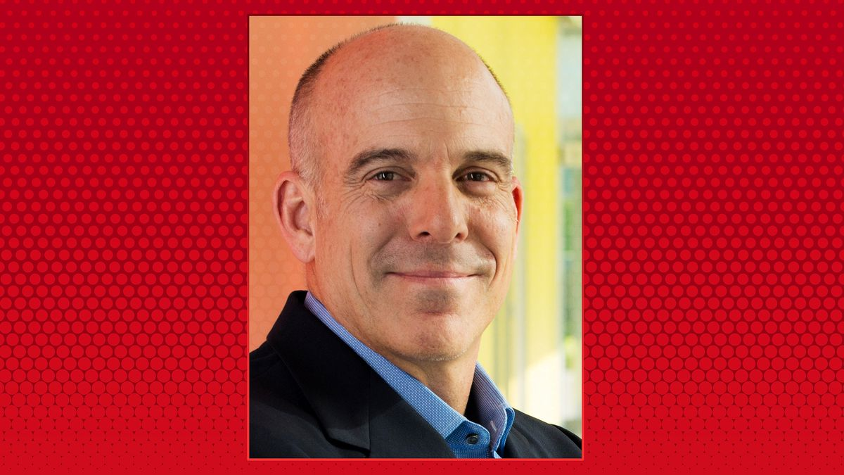 Portrait of Doug Bowser from Nintendo on a red dotted background