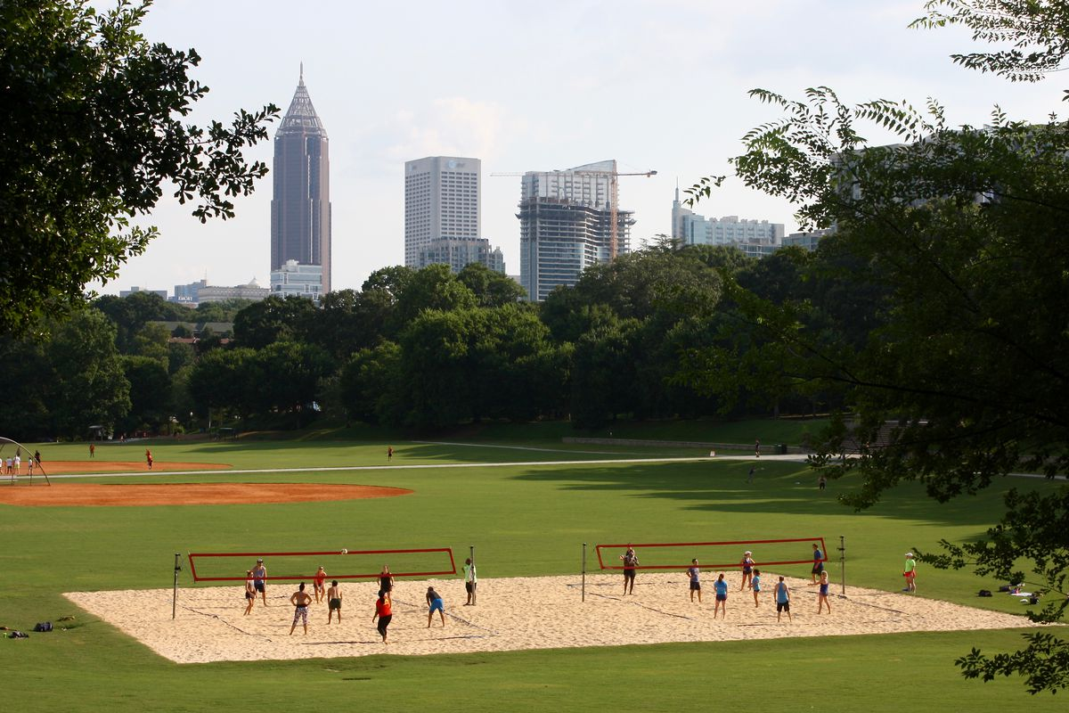 A photo of Atlanta's marquee green space, Piedmont Park, could grow larger in coming years.