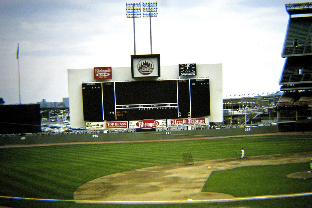 The early days of Shea Stadium. (Flickr user rbglasson)