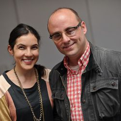 Author Sloane Crosley with Curbed tech head Eliot Shepard