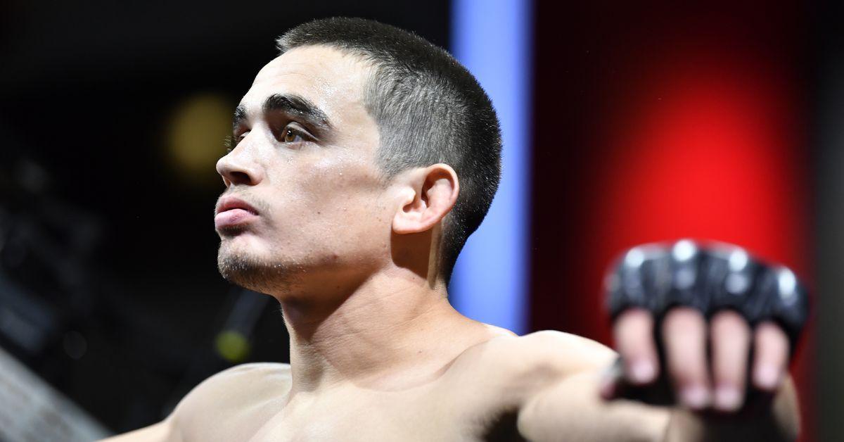Photo: Ryan Benoit's leg after fractured fibular head in UFC Vegas 33 loss to Zarrukh Adashev