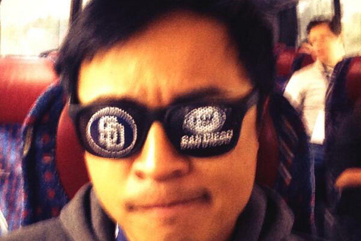 Dex takes a selfie on the FSSD Fan Express.