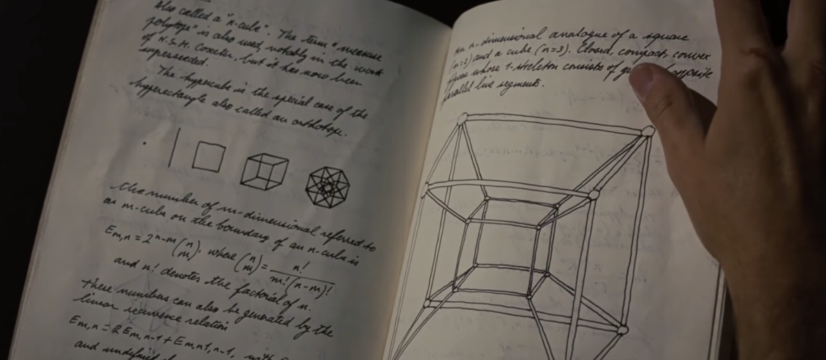 Notes by Howard Stark and possible drawing of Tesseract in Iron Man 2.