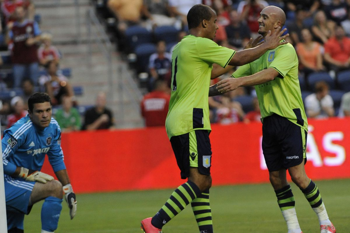 Aston Villa striker Gabriel Agbonlahor was the hero on Saturday night after scoring the lone goal in his club's 1-0 win over the Chicago Fire.