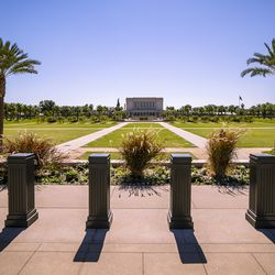 The newly renovated Mesa Arizona Temple of The Church of Jesus Christ of Latter-day Saints is pictured in Mesa, Ariz., on Monday, Oct. 11, 2021.