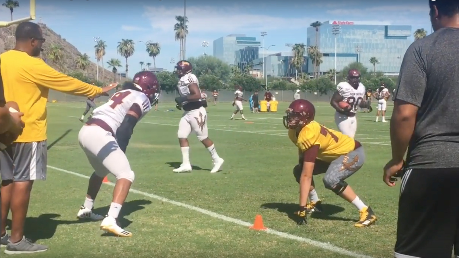 WATCH: ASU Football Highlights From Sunday's Practice
