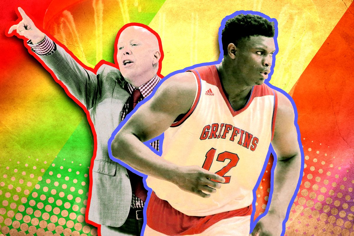 e4d80e64abed Cincinnati coach Mick Cronin and Duke commit Zion Williamson AP  Images Getty Images Ringer illustration