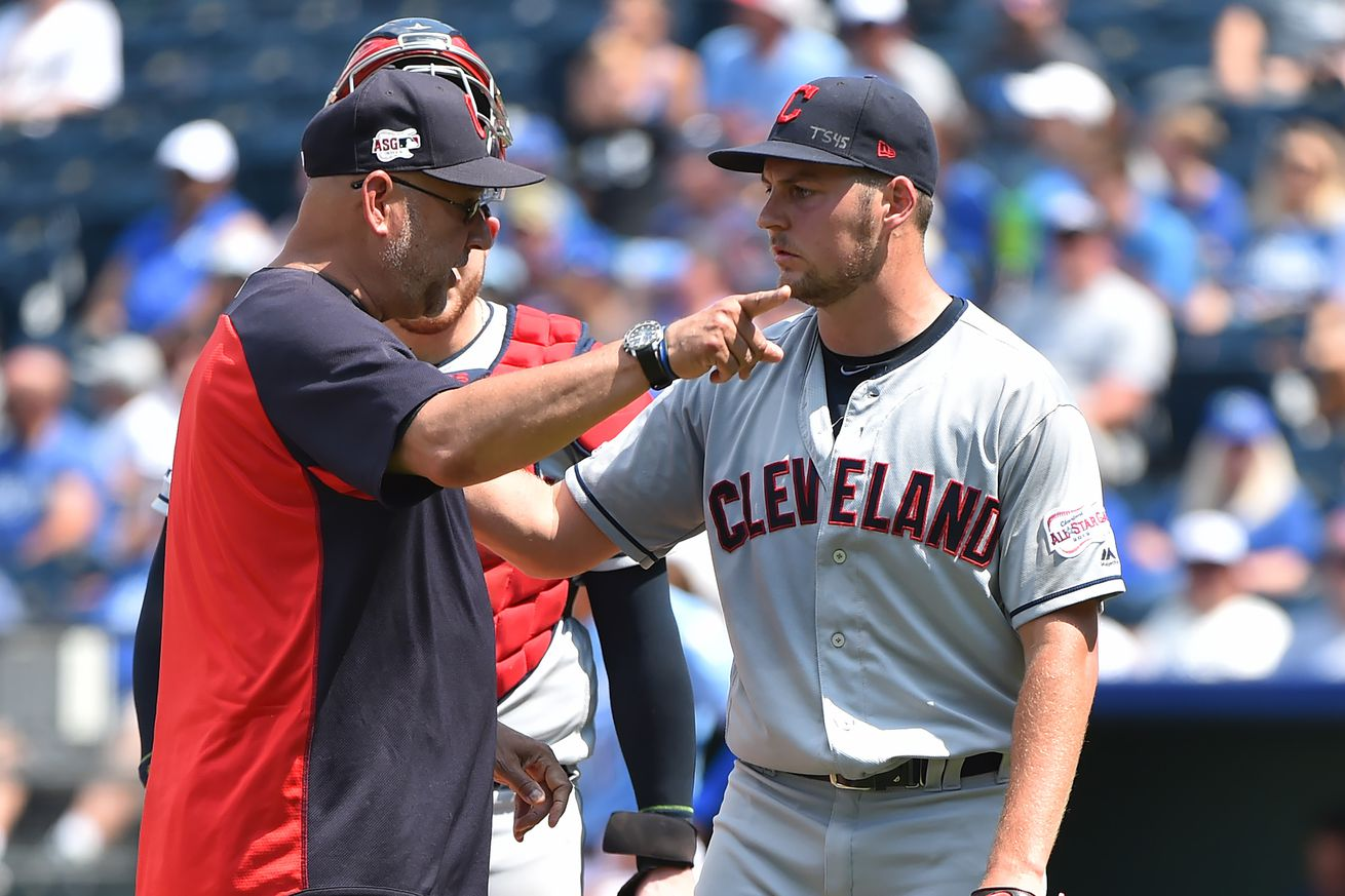 Trevor Bauer loses his whole damn mind as Indians lose to Royals 9-6