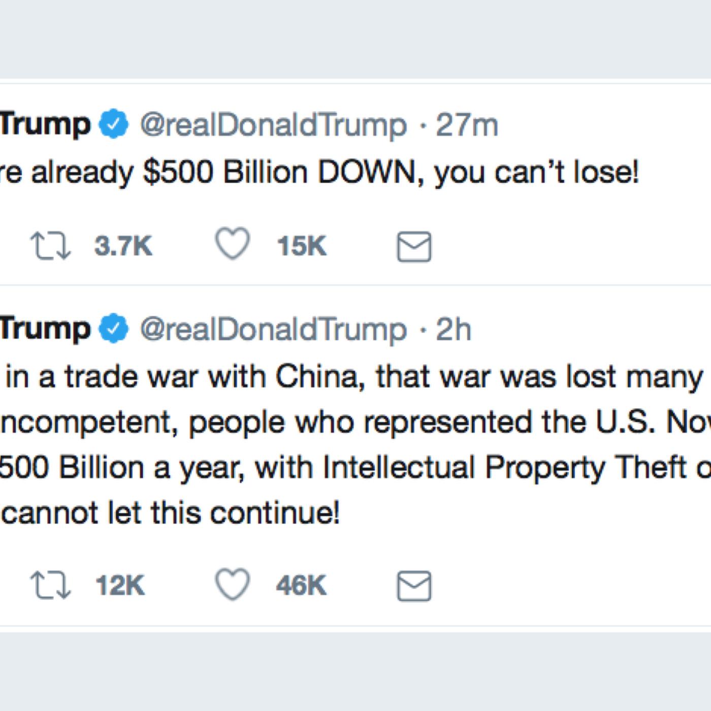 Trumps Trade Tweets Reveal Frightening Ignorance Vox