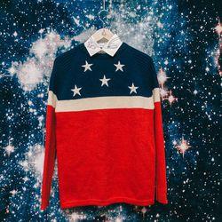 Obermeyer wool sweater, $250; Rachel Antonoff 'Trupti' top, $120