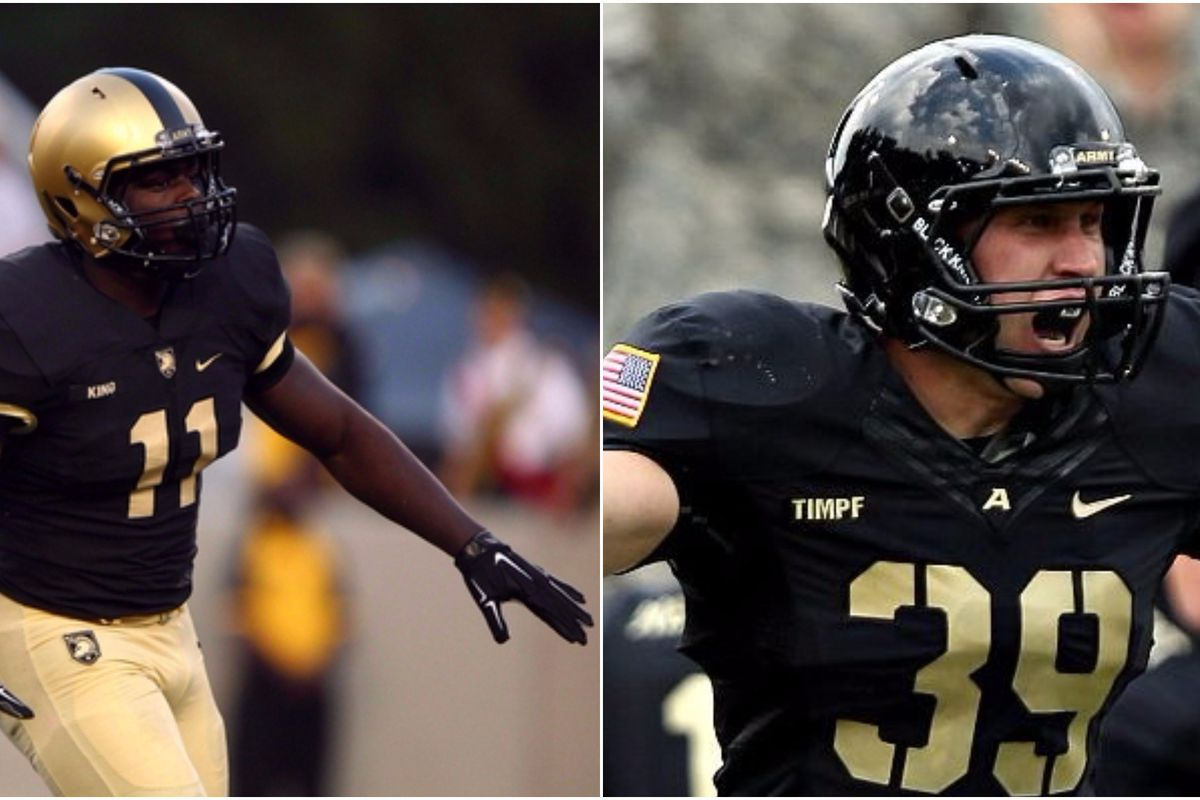 Linebackers Andrew King (left) and Jeremy Timpf (right) face a daunting task of rallying an Army team that has been on the losing end for the past 5 seasons.