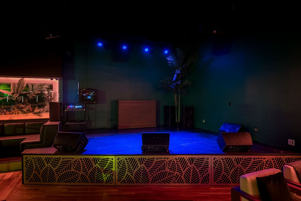 Live music stage at Canary