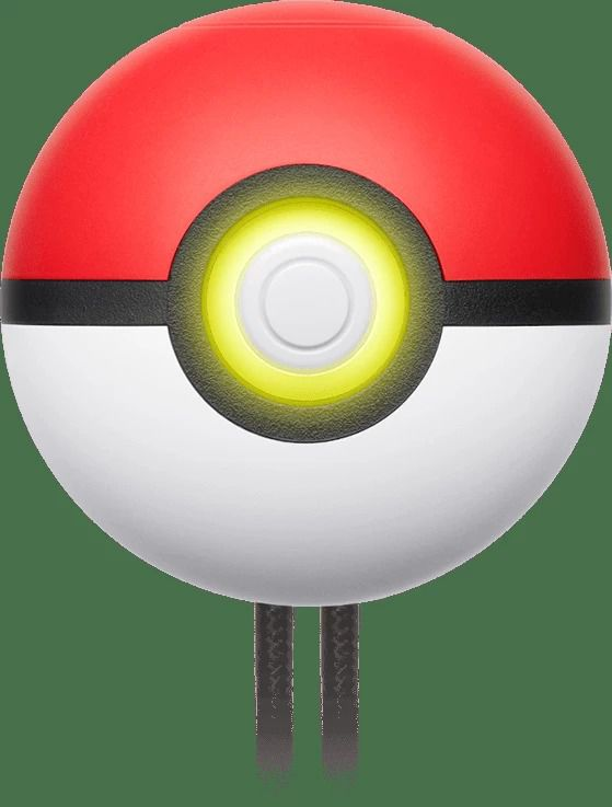 Poké Ball Plus with yellow light