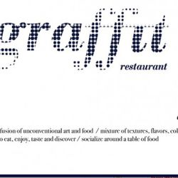 """<b>Graffit</b>: Okay, this isn't a proper slogan, but it is a few short sentences that sum up what the restaurant's all about, on their homepage.  And it makes no sense.  Maybe the Graffit team should have checked out <a href=""""http://ny.eater.com/archives"""