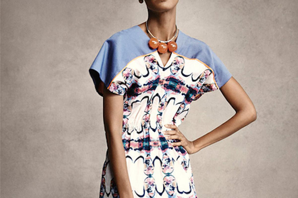 """Liya Kedebe in a lemlem dress for a Born Free campaign; Image via <a href=""""http://blog.dmanagementgroup.com/liya-kebede-and-karolina-kurkova-for-born-free/"""">d'management group</a>"""