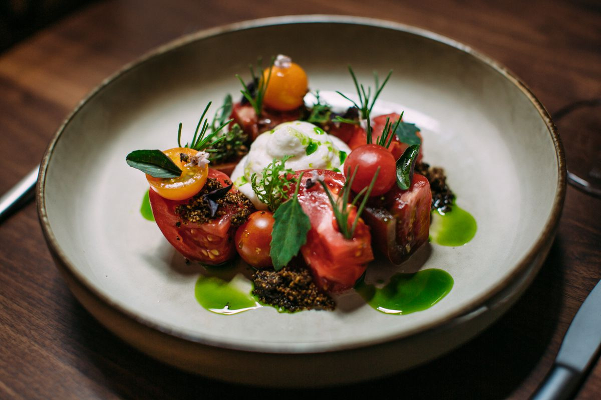 Tomato and burrata salad from the Matheson