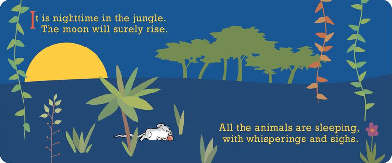 "A look inside Sandra Boynton's latest board book for young children, ""Jungle Night."""