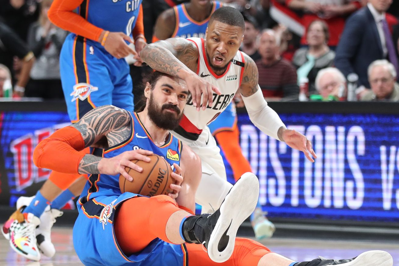 usa today 12534370.0 - Blazers-Thunder is the NBA Playoff series with the highest stakes