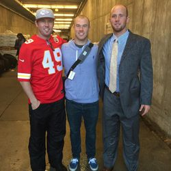 Cody, Dan and Brad after a game in Kansas City.