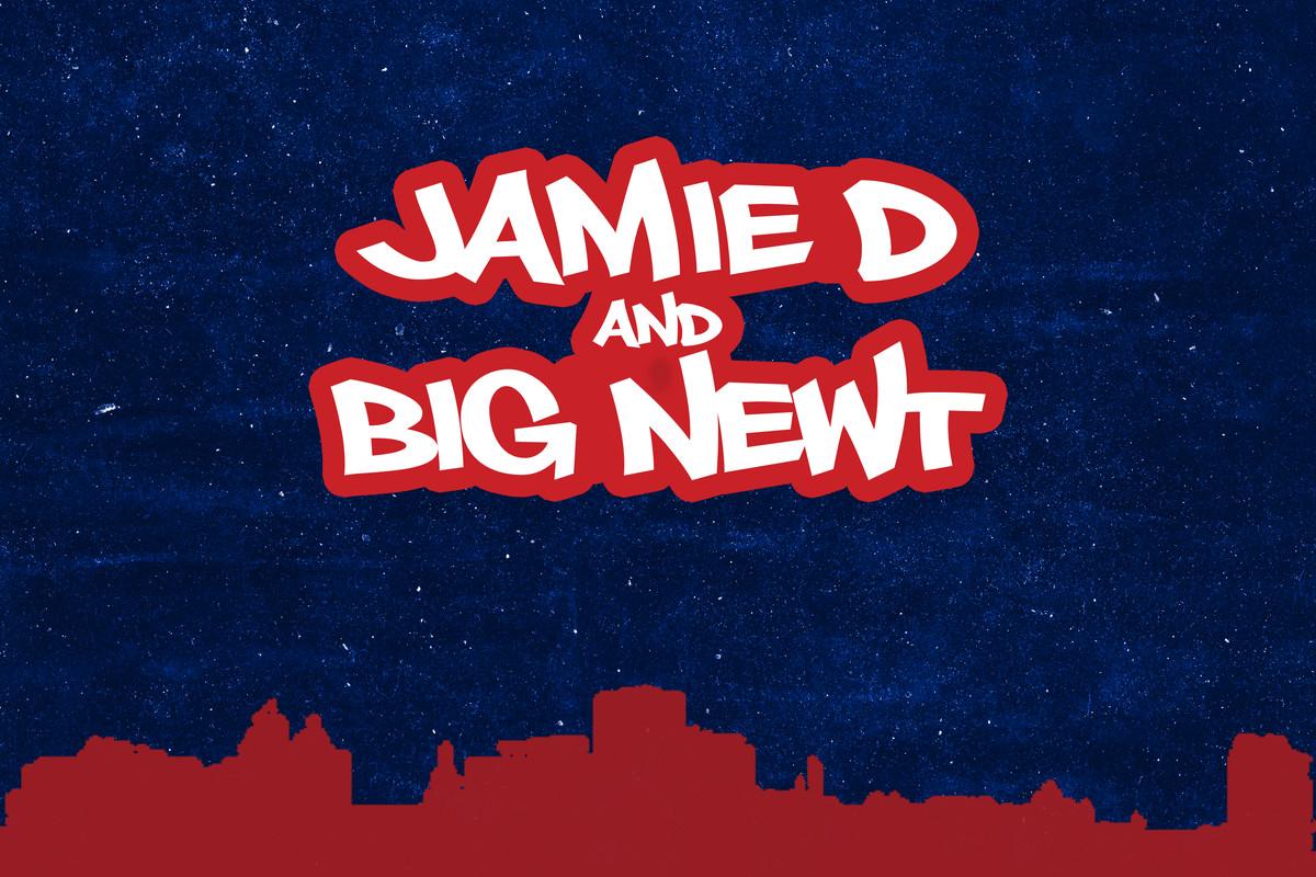 Jamie D and Big Newt podcast art