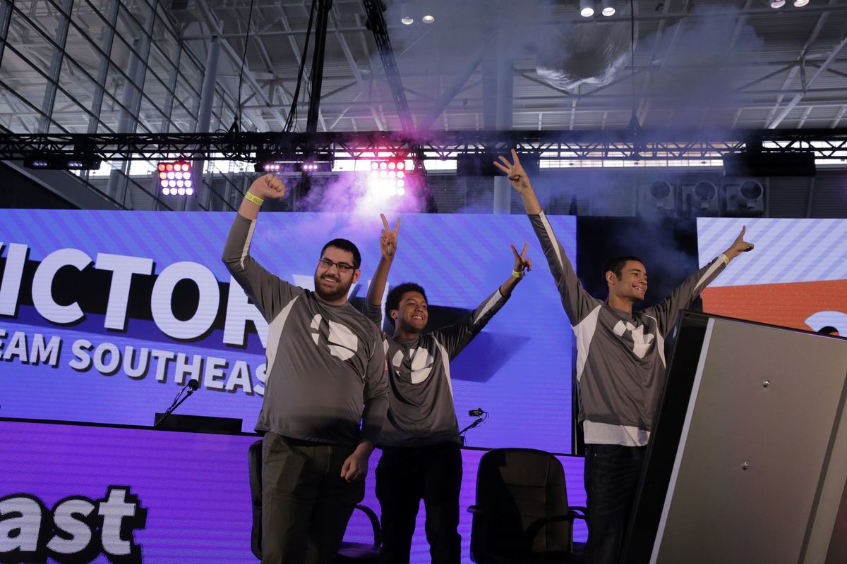 Poltergust, Wrath and Devonte of the Southeast Region tournament take home the top prize at the Super Smash Bros. Ultimate North America Open 2019 on Saturday, March 30, 2019, at PAX East in Boston.