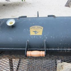 The half-ton smoker the Texas Beef Council imported for the BBQ cook-off