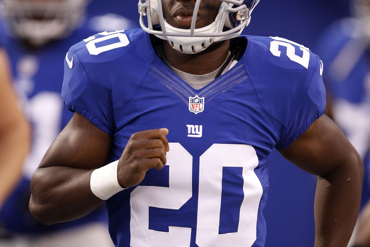 Aug 24, 2012; East Rutherford, NJ, USA; New York Giants defensive back Prince Amukamara (20) before the game against the Chicago Bears at MetLife Stadium. William Perlman/THE STAR-LEDGER via US PRESSWIRE