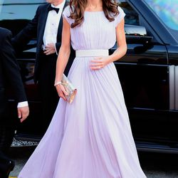Wearing a Alexander McQueen lilac gown and Jimmy Choo shoes to the BAFTA Brits To Watch event on July 9th, 2011 in Los Angeles, California.