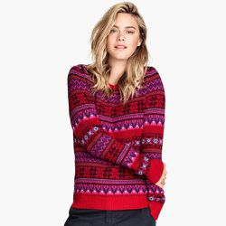 """<strong>H&M</strong> Jacquard-knit Sweater, <a href=""""http://www.hm.com/us/product/51871?article=51871-D#article=51871-C"""">$34.95</a>"""
