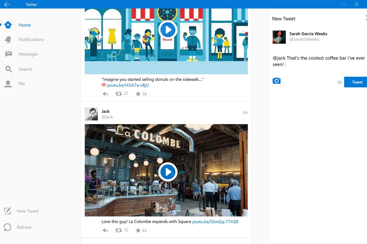 Twitter for Windows 10 gets a new look - The Verge