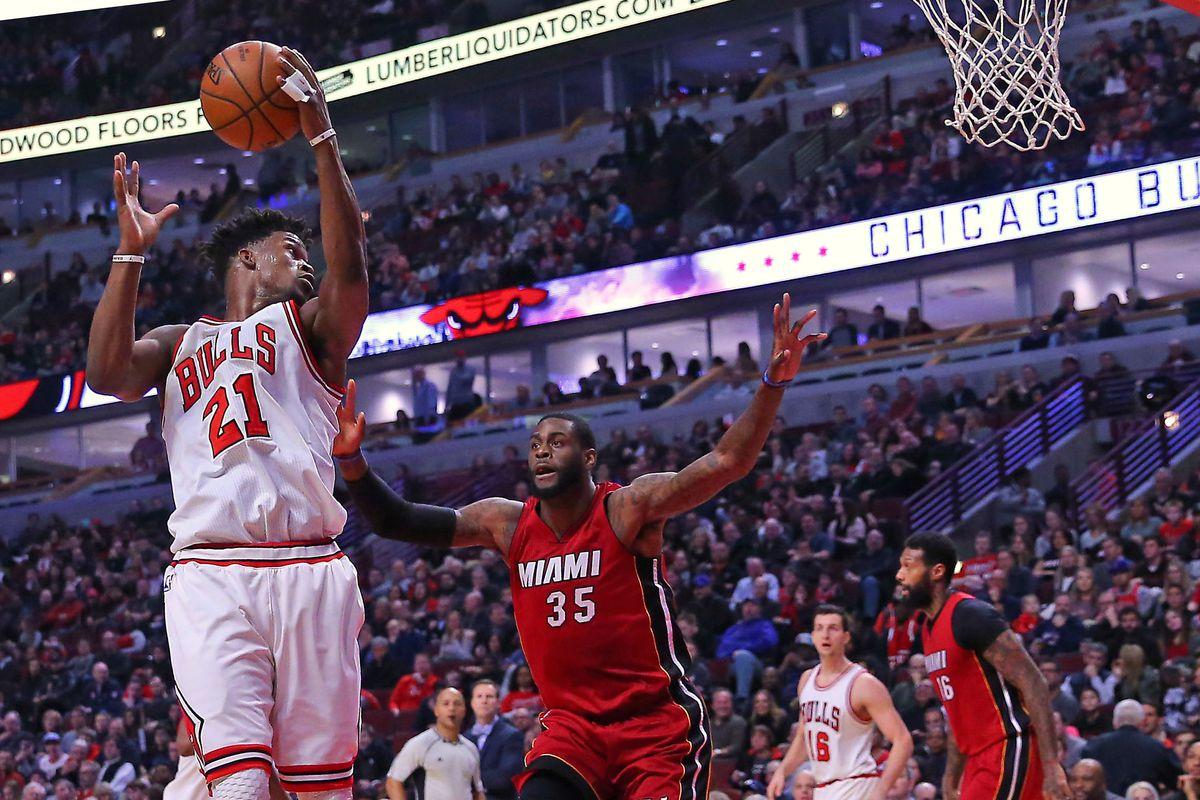 NBA: Miami Heat at Chicago Bulls