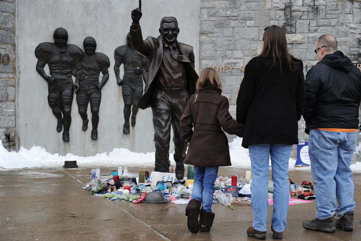 For most of us no one person has defined a college football program like Paterno defined Penn State. Love or hate the Lions we should all be sympathetic to the PSU community.