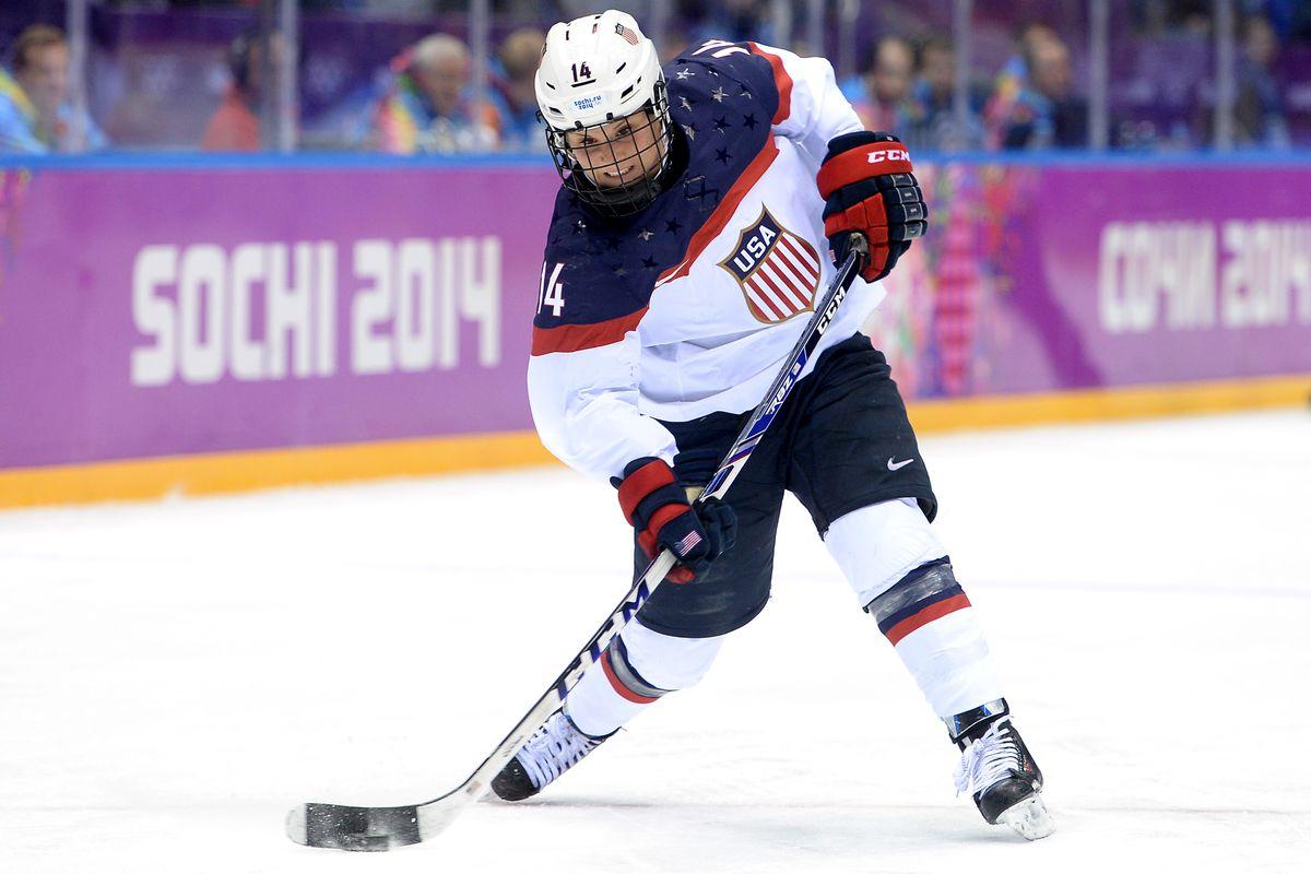 Brianna Decker at the Sochi Olympics