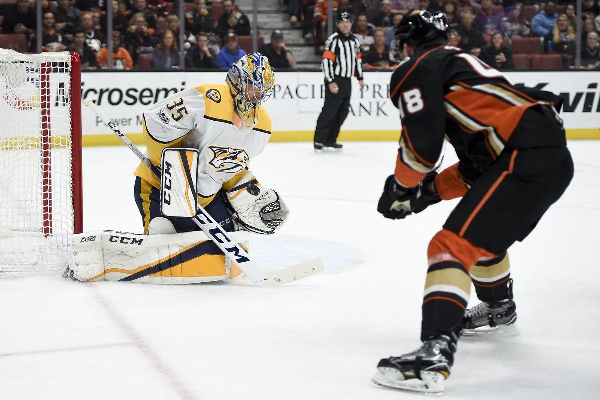 NHL: Nashville Predators at Anaheim Ducks