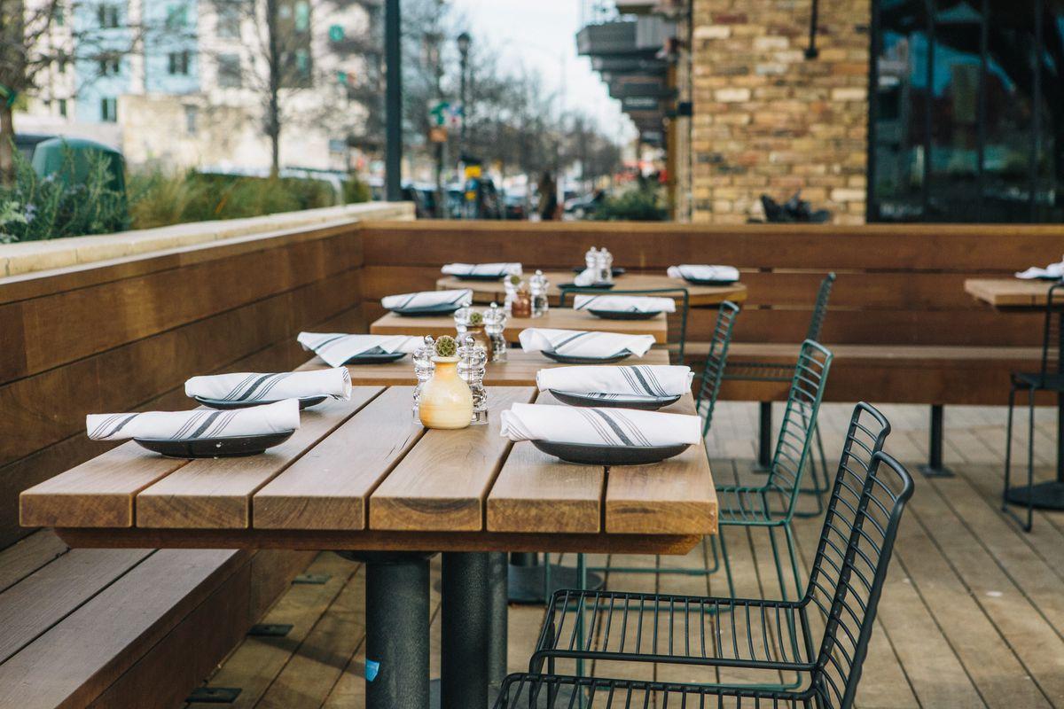 The patio at Il Brutto