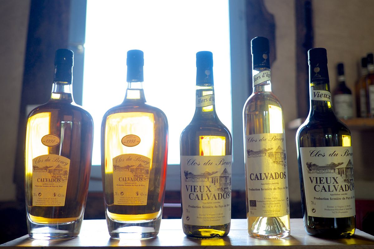 Calvados bottles
