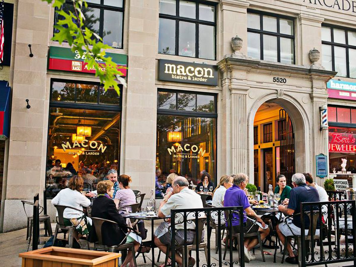 Customers Dining On The Patio At Macon Bistro Larder Photo