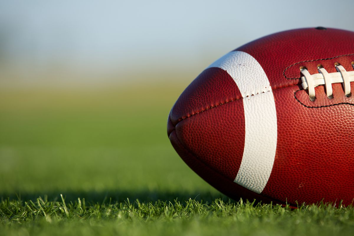 american football, athletics, college, college football, collegiate, competition, field, football, game, high school football, horizontal, kids football, laces, pigskin, recreation, sport, team sport, youth football, shutterstock
