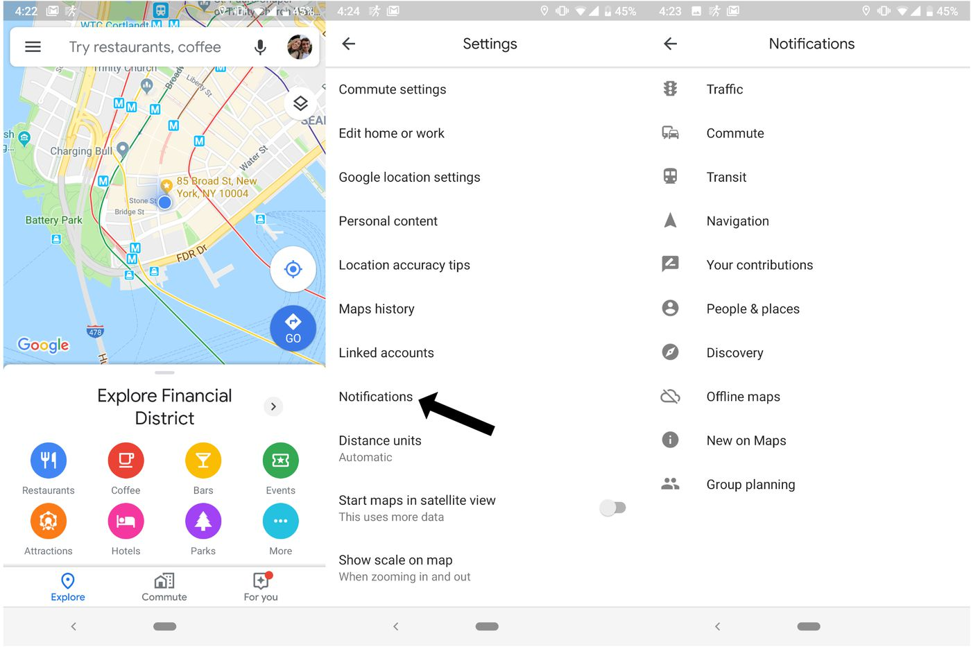 How To Turn Off Google Maps Many Notifications The Verge
