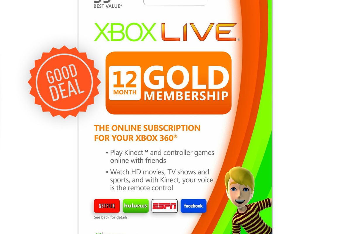 Good Deal: 12 months of Xbox Live Gold for $35 - The Verge