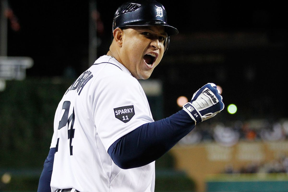 Miguel Cabrera lost 20-25 pounds in preparation for his move to third base. He looks healthy, happy, and hungry for the 2012 season to begin.