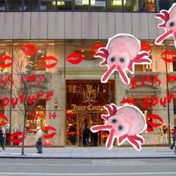 Bed bugs get their holiday shopping started early at Juicy Couture in December.