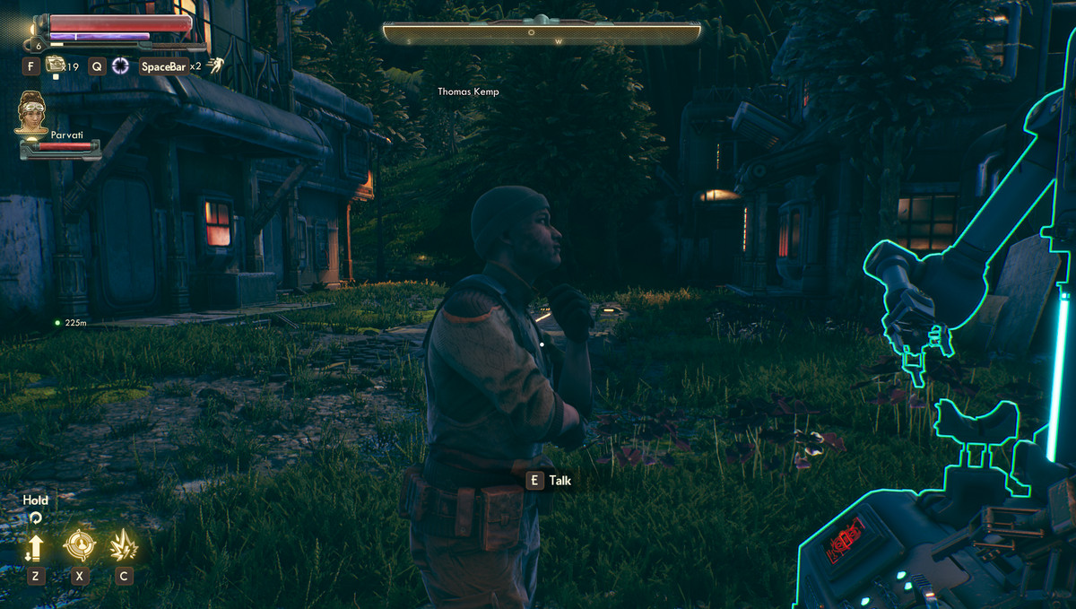 The Outer Worlds Guide The Frightened Engineer Walkthrough Polygon Thomas kemp, one of the deserters living with adelaide in the botanical labs, is trying to teach himself engineering. the outer worlds guide the frightened