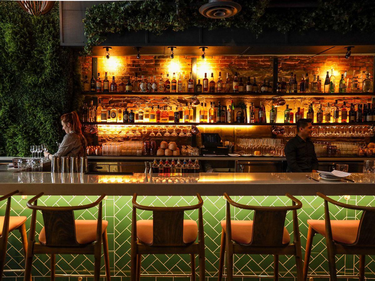The bar at Seven Reasons.