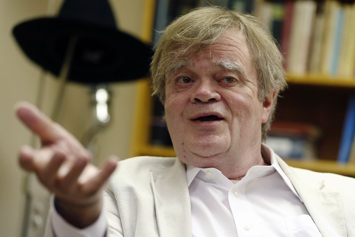 """FILE - In this July 20, 2015, file photo, Garrison Keillor, creator and host of """"A Prairie Home Companion,"""" appears during an interview in St. Paul, Minn. """"A Prairie Home Companion"""" has been given a new name — """"Live from Here"""" — in the wake of Keillor's a"""