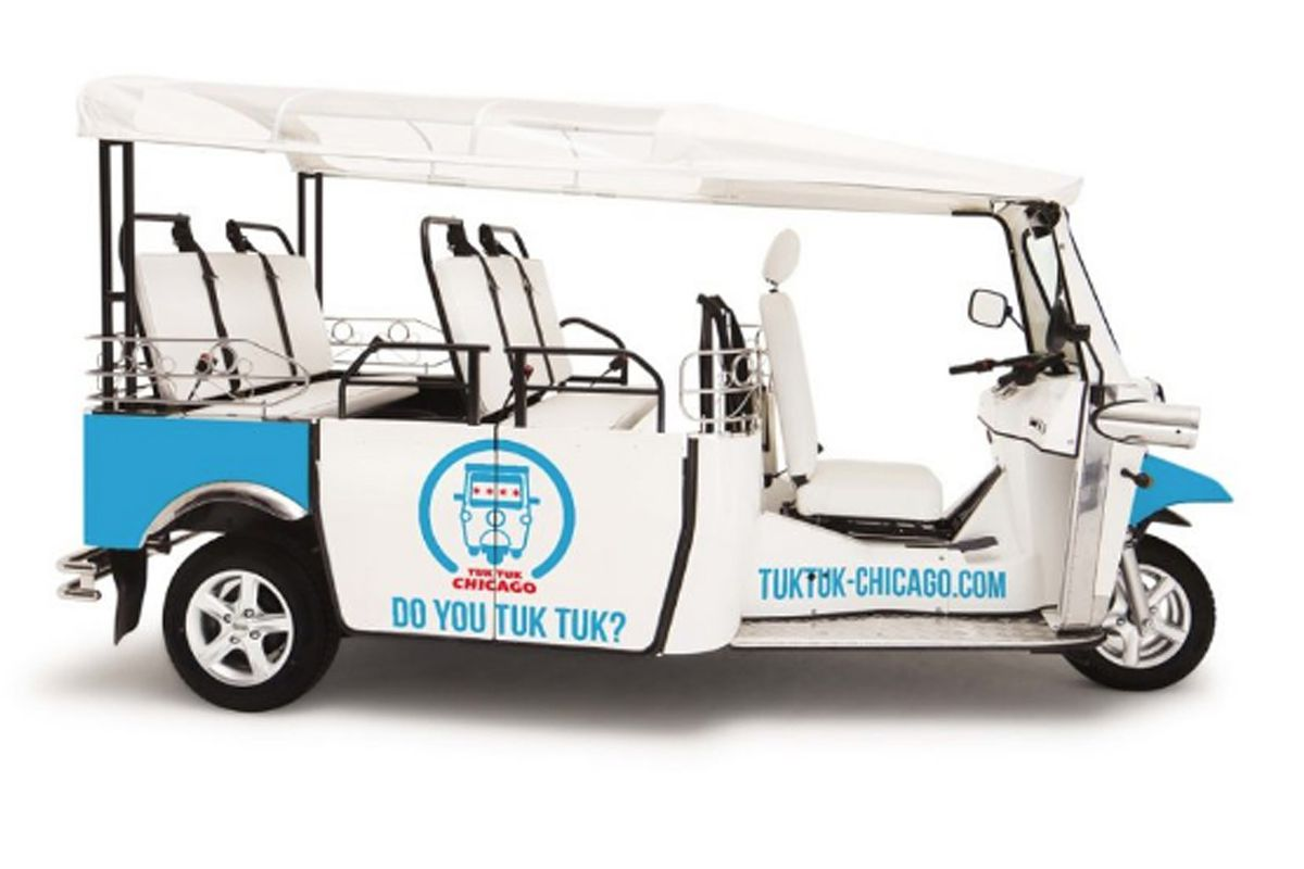 Tuk Tuk Chicago's all-electric vehicles are intended for short, low-speed trips.