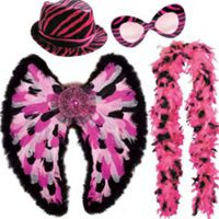 Christmas - pink suit accessories