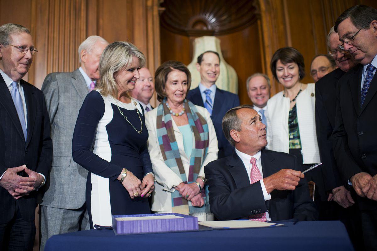 boehner bill signing