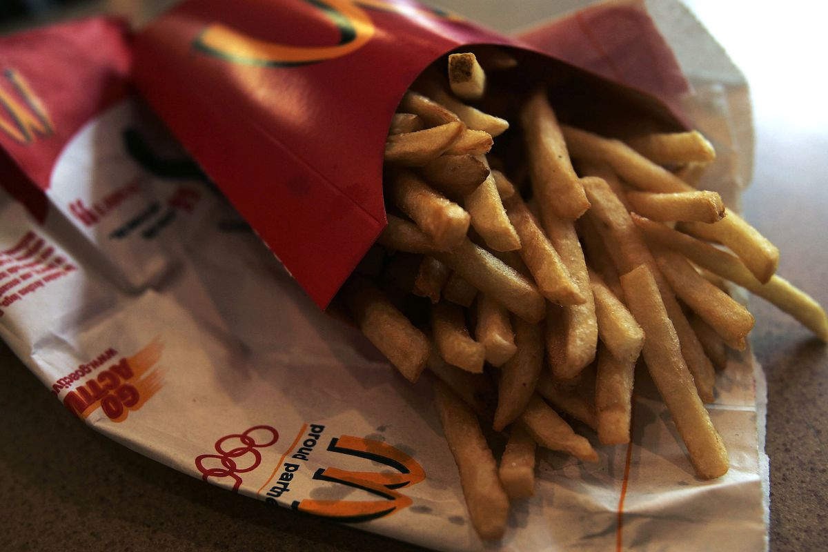 McDonald's french fries on a table